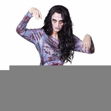 Halloween - dames shirt met zombie ingewanden
