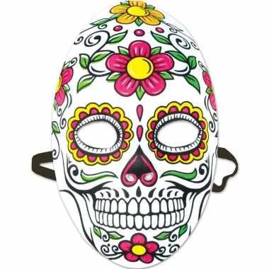 Halloween - day of the dead sugarskull halloween gezichtsmasker voor