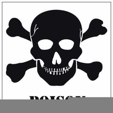 Halloween decoratie giftig / poison sticker 10,5 cm