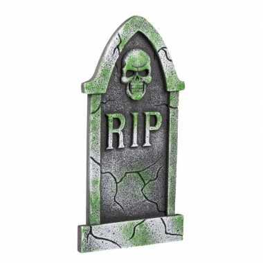 Halloween - decoratie halloween grafsteen schedel 40 cm