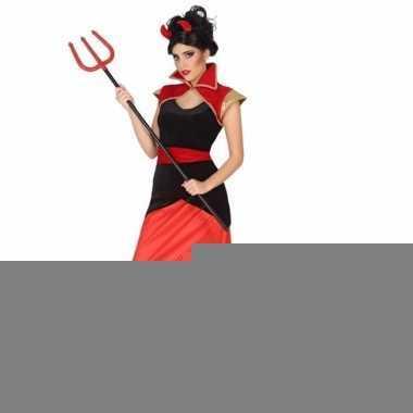 Halloween demoon jurkje met vlammen