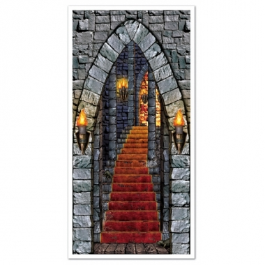 Halloween deurposter kasteeltrap