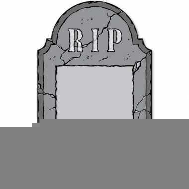 Halloween - grafsteen rip krijtbord halloween versiering/decoratie 53