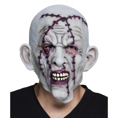 Halloween Masker.Halloween Grijs Horror Halloween Masker Met Nietjes Van