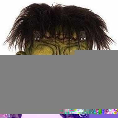 Halloween - groen eng halloween frankenstein masker van latex