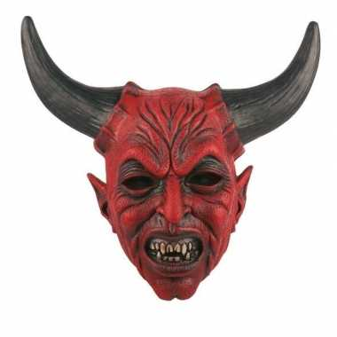 Halloween - halloween duivel masker van latex
