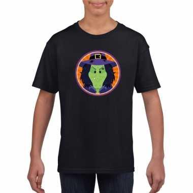 Halloween - halloween heks t-shirt zwart kinderen