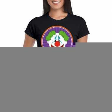 Halloween - halloween horror clown t-shirt zwart dames