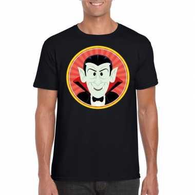 Halloween - halloween vampier/dracula t-shirt zwart heren