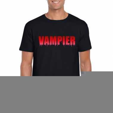 Halloween - halloween vampier tekst t-shirt zwart heren