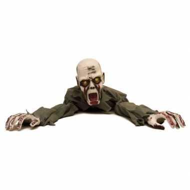 Halloween - halloween versiering kruipende zombie met licht en geluid