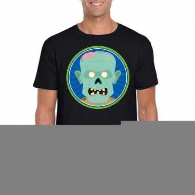Halloween - halloween zombie t-shirt zwart heren