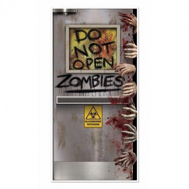 Halloween - halloween zombies deurposter 152 cm
