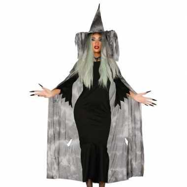 Halloween - heksencape halloween kostuum met hoed voor dames