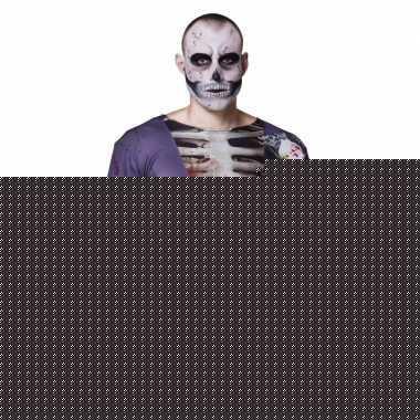 Halloween - heren shirt met zombie bruidegom