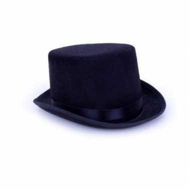 Halloween - hoge gothic horror zwarte hoed