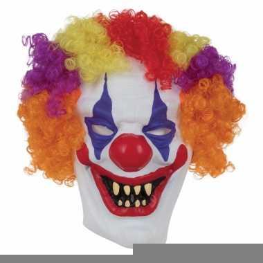 Halloween - horror clown masker voor volwassenen