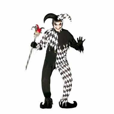Halloween - horror harlekijn kostuum voor heren