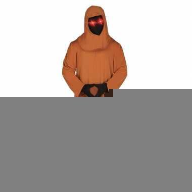 Halloween - horror space kostuum met lichtgevende ogen