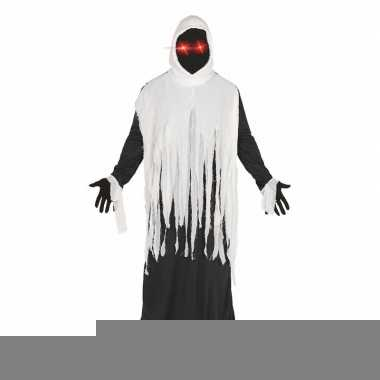 Halloween - horror spook kostuum met lichtgevende ogen