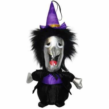 Halloween knuffel heksen pop 30 cm
