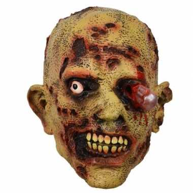 Halloween - latex horror masker zombie bloedend oog