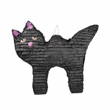 Halloween pinata zwarte kat/poes 58 cm