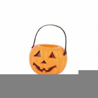 Halloween pompoen emmers 6 stuks
