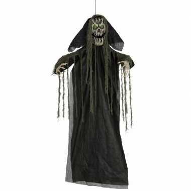Halloween - pratende skelet horror pop met licht 195 cm