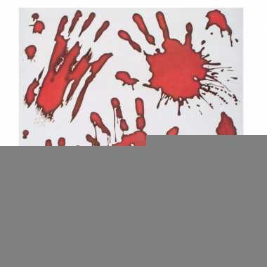 Halloween - raamstickers bloedende handafdrukken