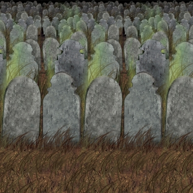 Halloween scenesetter begraafplaats