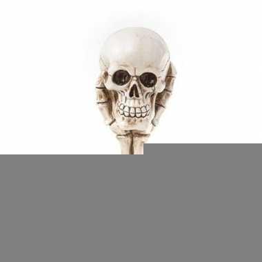 Halloween - schedel halloween decoratie beeldje 16 cm