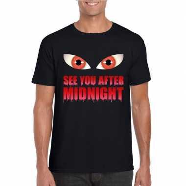 Halloween - see you after midnight halloween vampier t-shirt zwart he