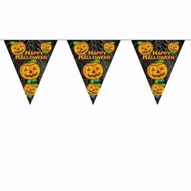 Halloween thema vlaggenlijn met pompoen