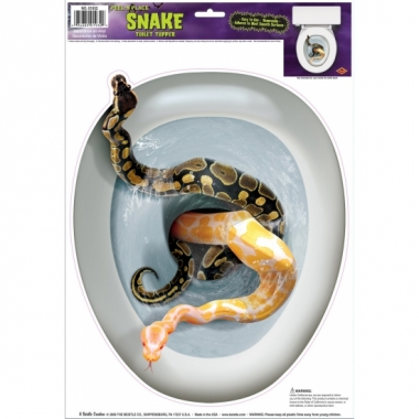 Halloween toiletbril sticker slangen