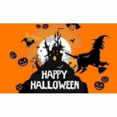 Halloween vlag oranje 150 x 90 cm