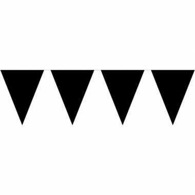 Halloween vlaggenlijn zwart 10 m