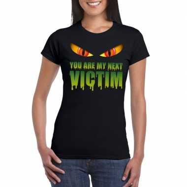 Halloween - you are my next victim halloween monster t-shirt zwart da