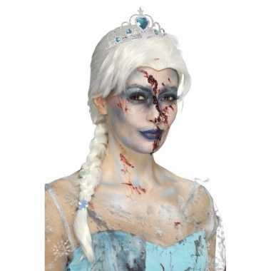 Halloween - zombie froze to death damespruik