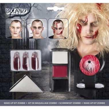 Halloween - zombie schminkset met bloed capsules