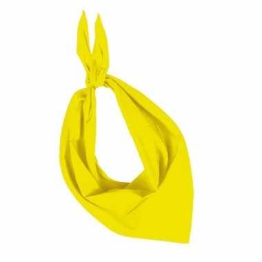 Hals zakdoek geel