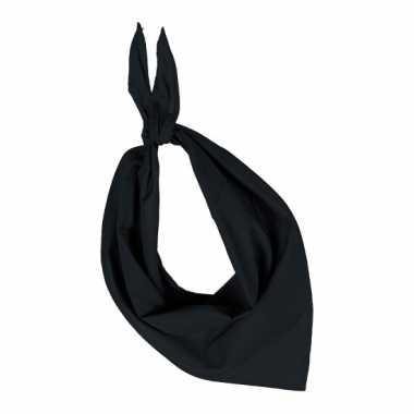 Hals zakdoek zwart
