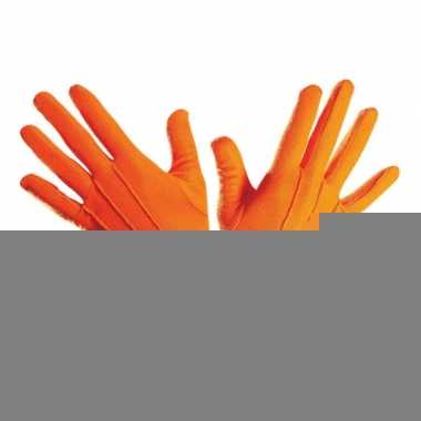 Handschoenen in het oranje
