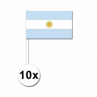 Handvlag argentinie set van 10