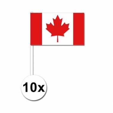 Handvlag canada set van 10