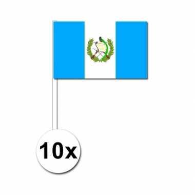 Handvlag guatemala set van 10