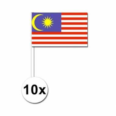 Handvlag maleisie setje van 10