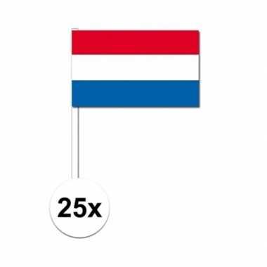 Handvlag nederland set van 25x