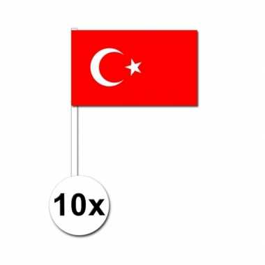 Handvlag turkije set van 10