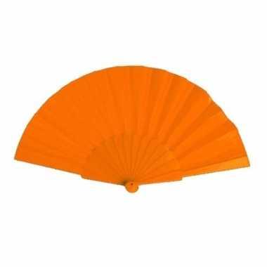 Handwaaier oranje 23 cm